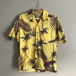 *Vintage* LL Bean Tropical Short Sleeve Button Up